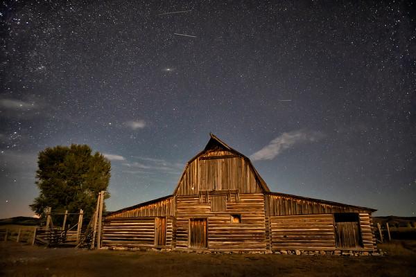 Moulton Barn at Grand Teton National Park with Milky Way