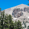 "Lassen Volcanic NP's Lassen Peak with ""Eye of Vulcan"" - an extruded mound of dacite that flowed upward"