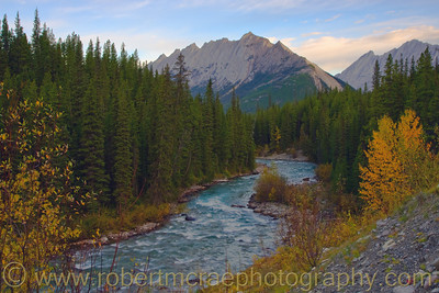 Atumn along the Maligne River.