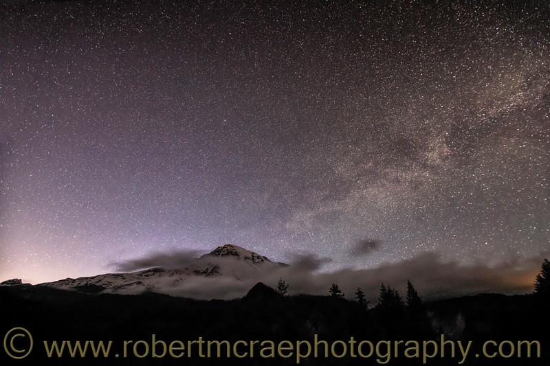 Mt Rainier and the Milkyway