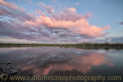 """Cotton Candy Clouds on Boat Ramp Road"""