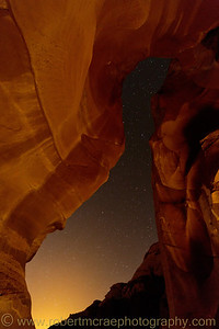"""Night View from a Slot Canyon"" - Award Winner"