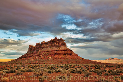 """Storm Clouds Over Valley of the Gods"""