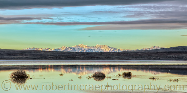 """The Oquirrh Mountains from Antelope Island"""