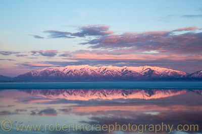 """Wasatch Mountains at Sunset"""