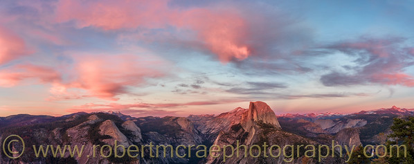 Sunset View from Glacier Point