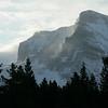 Winter mountain landscape, Glacier National Park, Montana