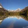 Mountain reflection, Glacier National Park, Montana