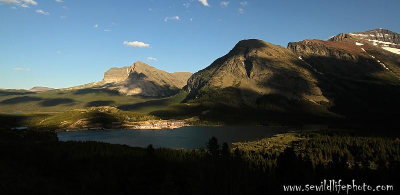 Many Glacier Hotel landscape, Glacier National Park, Montana