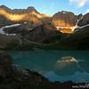 Cracker Lake dawn, Glacier National Park, Montana
