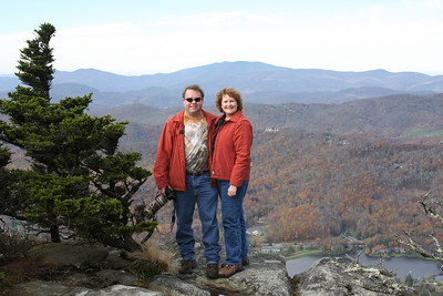 At the edge of Grandfather Mountain, NC.