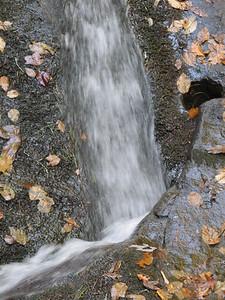 Leatherwood Falls near Hayesville, NC -Close in photo