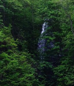 Bird Falls.  Nantahala River near convergence with Fontana Lake.