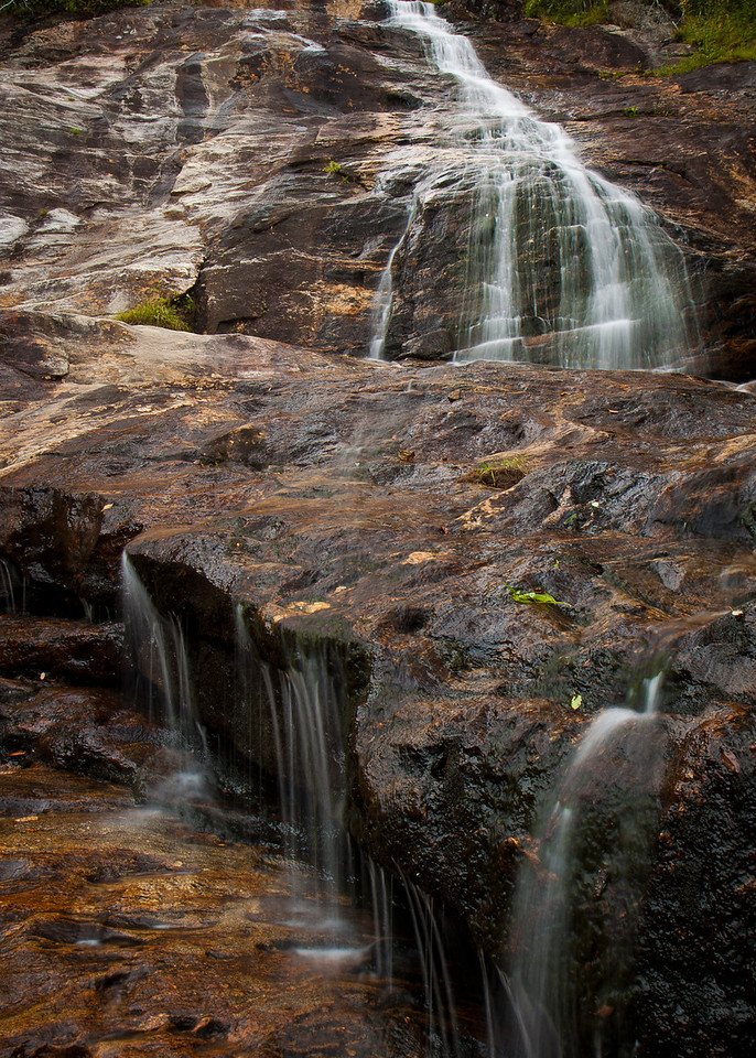 A higher perspective of the Upper Falls on the Graveyard Fields Trail.