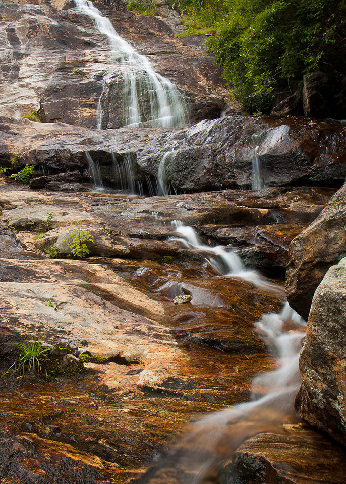 The Upper Falls in the Graveyard Fields of the Pisgah National Forest.