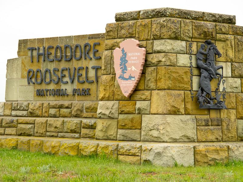 Sign Theodore Roosevelt National Park<br /> Theodore Roosevelt National Park, North Dakota