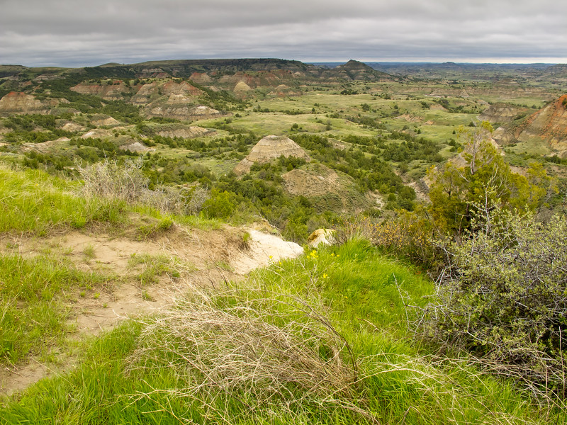 View from the Visitor Center<br /> Theodore Roosevelt National Park, North Dakota