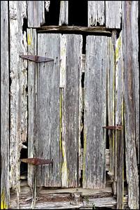 Time has taken a toll on this old barn's door.