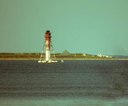 View of a navigation light from one of the trails at North Point State Park.  This is the Craighill Channel Lower Range Rear Beacon.  More information at http://www.craighillrange.org/content/view/17/26/   Taken at North Point State Park.