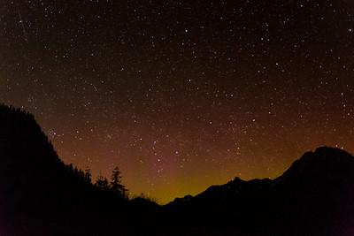 End of light show near midnight.