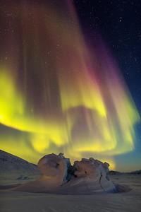 Aurora in Baffin Island, Nunavut