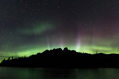 Castle Mountain Aurora
