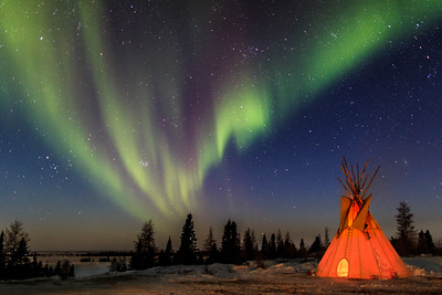 Aurora in Wapusk National Park, Manitoba