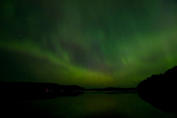#3:  Northern Lights over North Fowl Lake, Canada; July 14, 2012.