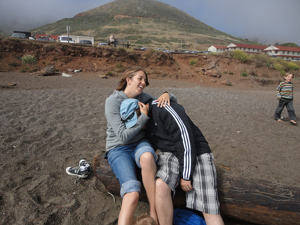 Melissa and Jethro - Rodeo Beach (after she was caught looking where she shouldn't have been)