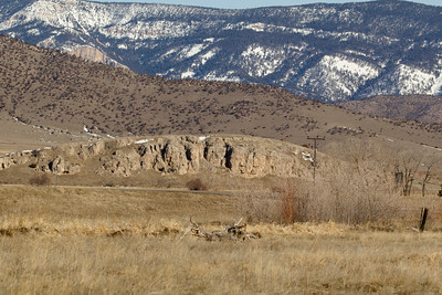 Rock mass near Pine Creek Fire Station on RT 89.  Was part of the Absaroka range 5 miles away to the East.
