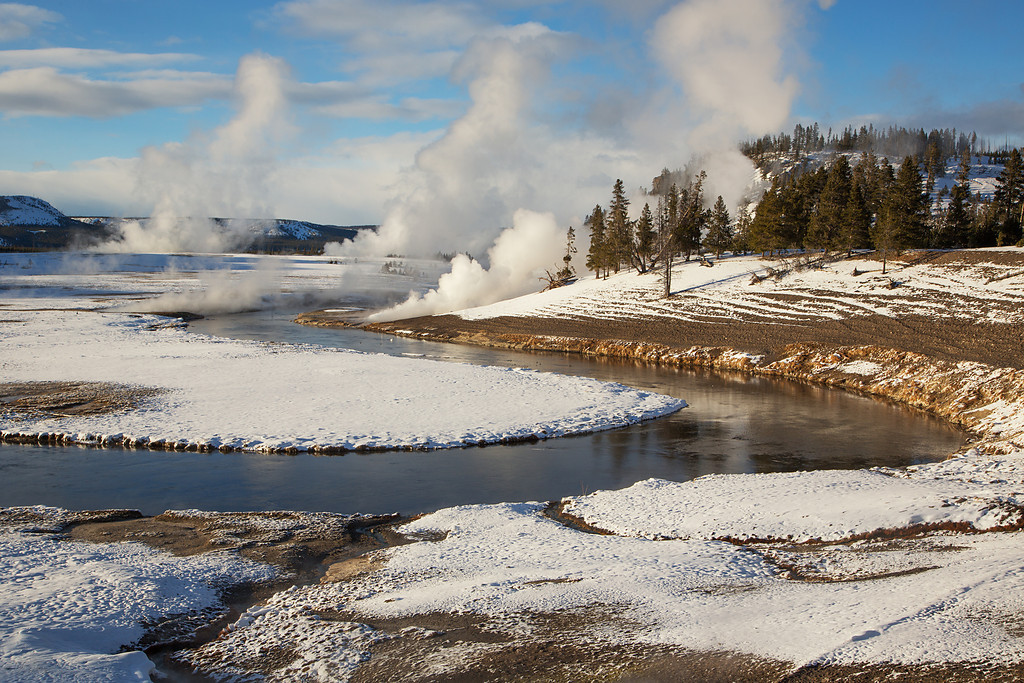 Firehole River and Midway Geyser Basin
