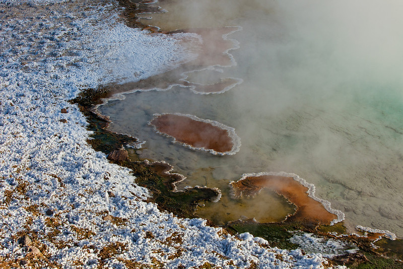 Thermal Pool Edge Detail, Old Faithful Geyser Basin