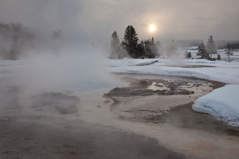 Moody Morning, Old Faithful Geyser Basin