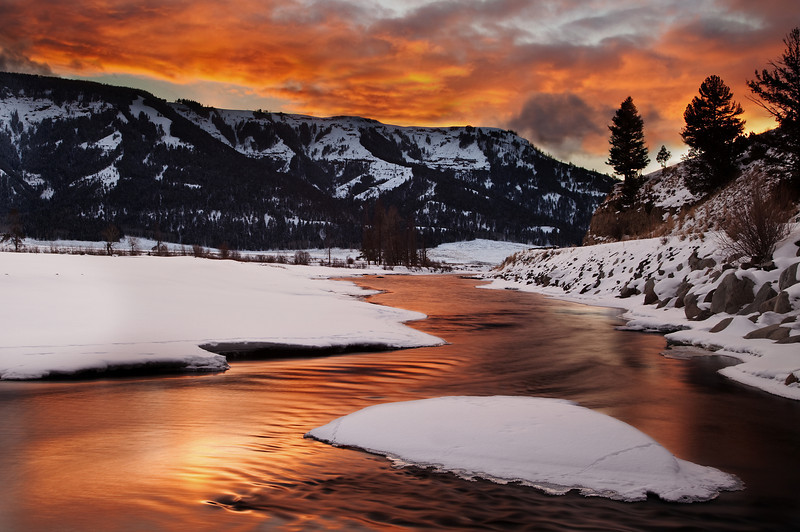 Soda Butte Creek Sunset II, Lamar Valley; Yellowstone National Park