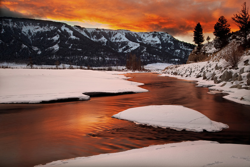 Soda Butte Creek Sunset, Lamar Valley; Yellowstone National Park