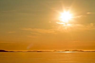 Sonnenuntergang in Norwegen Sunset in Norway