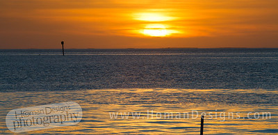 Sunset over Pamlico Sound from Ocracoke.