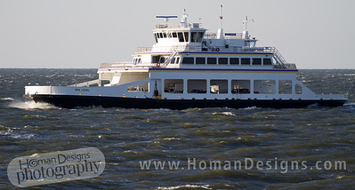 Ferry traffic on the Pamlico Sound.