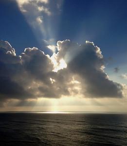 Sunrise off Waikiki beach