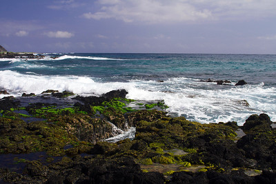 Tidal pools near Sandy beach