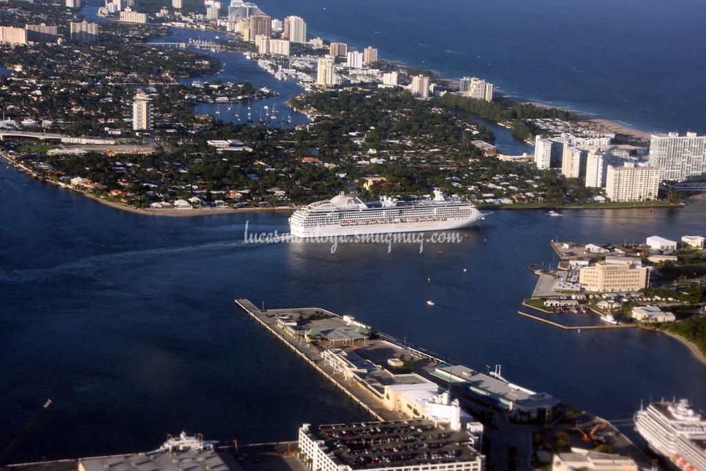 Coral Princess Leaving Ft. Lauderdale - December 2013