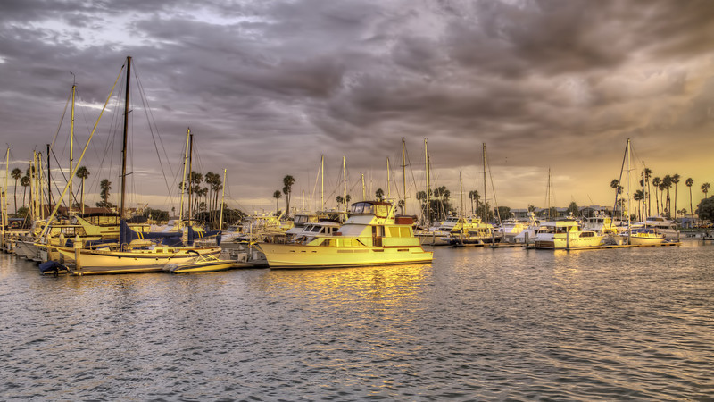 Alamitos Bay during the golden hour - HDR - 4 Sept 2011