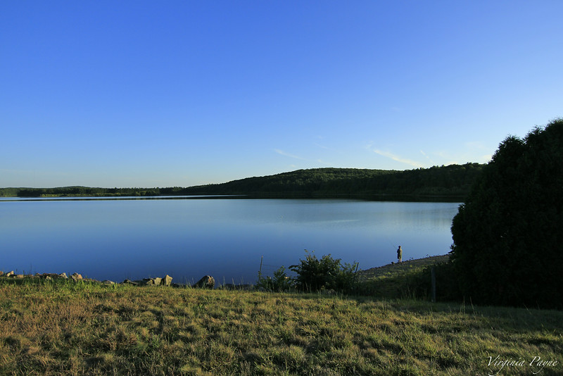 "Fishing on the ""lake"" (reservoir)..."