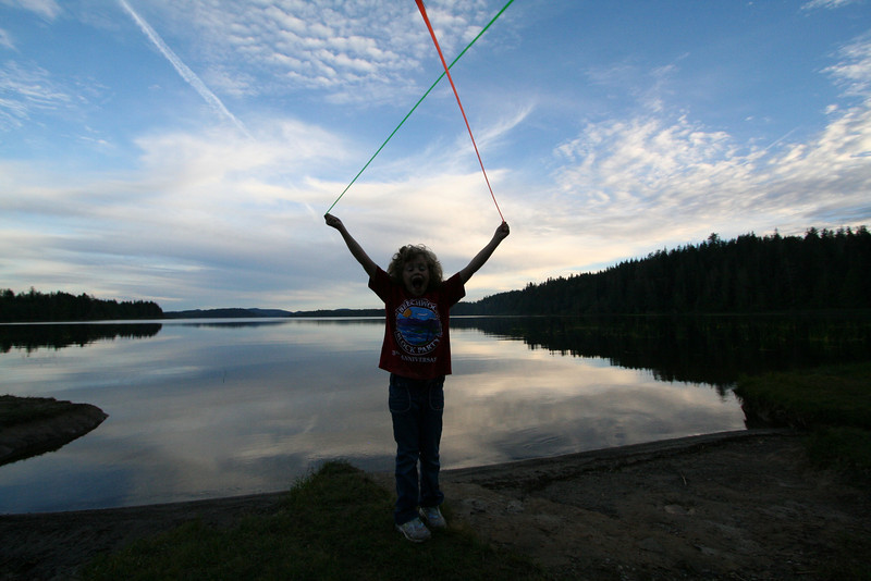 Fun with slimy-string at Lake Ozette