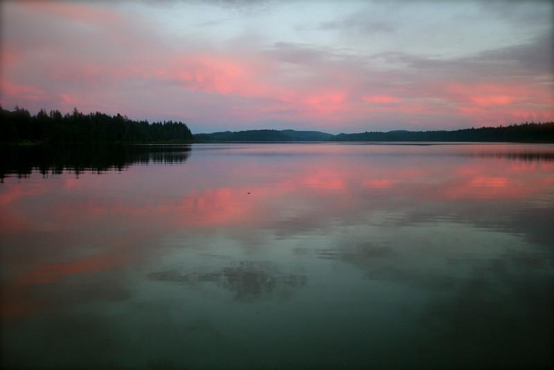 Sunset over Lake Ozette