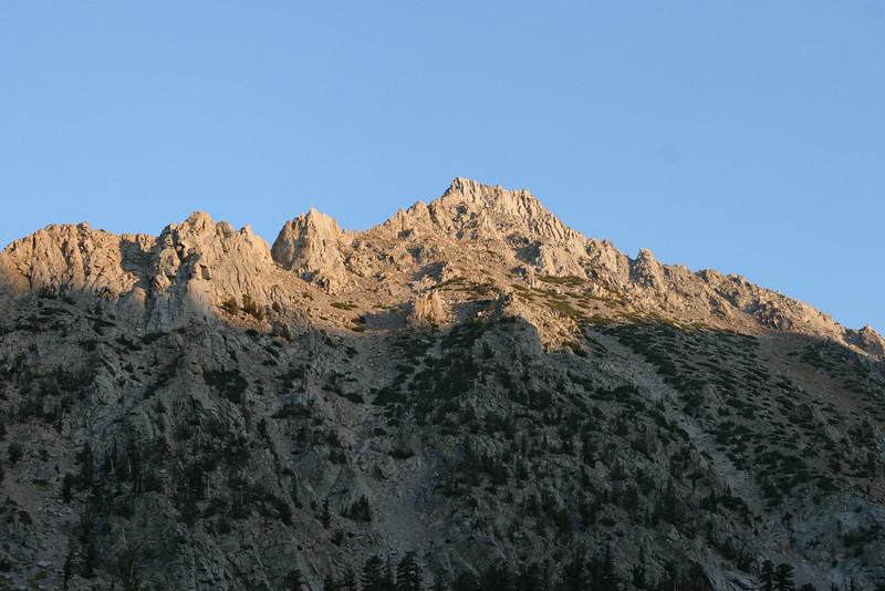 The sun is starting to set on Onion Valley.