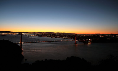 The Golden Gate at dawn