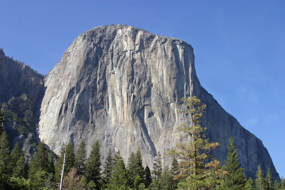 El Capitan is a 3,000-foot (1000m) vertical rock formation in Yosemite National Park, located on the north side of Yosemite Valley, near its western end. The granite monolith is one of the world's favorite challenges for rock climbers