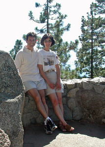 Ana and I during a summer vacation at lake Tahoe - 2002
