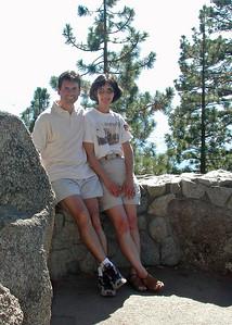 Ana and I during a summer vacation at lake Tahoe - 2002